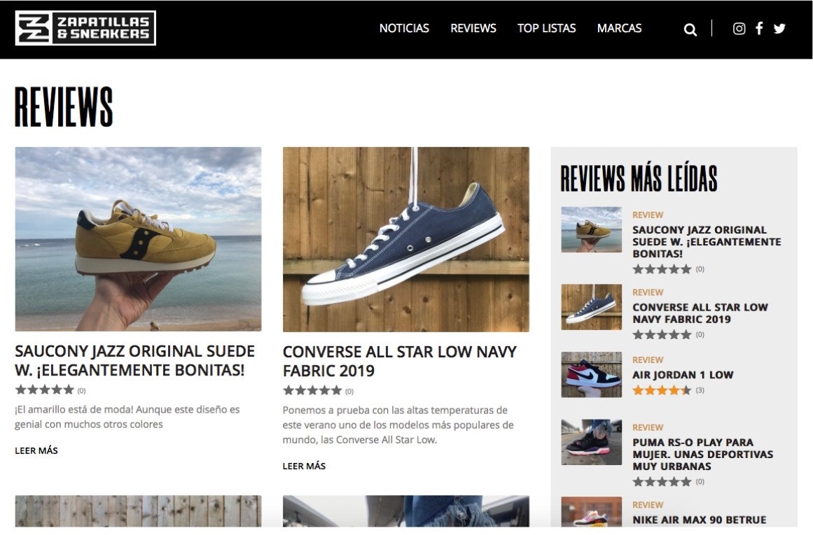 News blog of Zapatillas wbesite